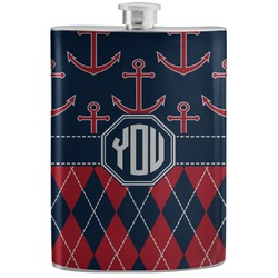 Anchors & Argyle Stainless Steel Flask (Personalized)