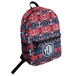 Anchors & Argyle Student Backpack (Personalized)