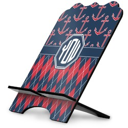 Anchors & Argyle Stylized Tablet Stand (Personalized)
