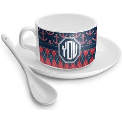 Anchors & Argyle Tea Cup - Single (Personalized)