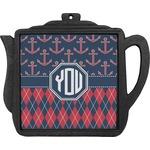 Anchors & Argyle Teapot Trivet (Personalized)