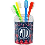 Anchors & Argyle Toothbrush Holder (Personalized)