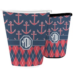 Anchors & Argyle Waste Basket (Personalized)