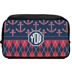 Anchors & Argyle Toiletry Bag / Dopp Kit (Personalized)