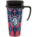 Anchors & Argyle Travel Mug with Handle (Personalized)