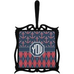 Anchors & Argyle Trivet with Handle (Personalized)