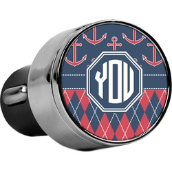 Anchors & Argyle USB Car Charger (Personalized)
