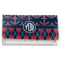 Anchors & Argyle Vinyl Checkbook Cover (Personalized)