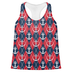 Anchors & Argyle Womens Racerback Tank Top (Personalized)