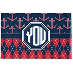 Anchors & Argyle Woven Mat (Personalized)
