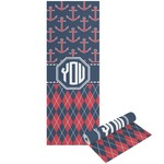 Anchors & Argyle Yoga Mat - Printable Front and Back (Personalized)
