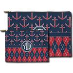 Anchors & Argyle Zipper Pouch (Personalized)
