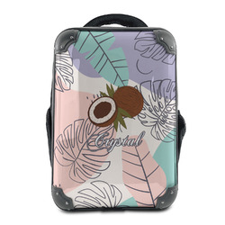 Coconut and Leaves Hard Shell Backpack (Personalized)
