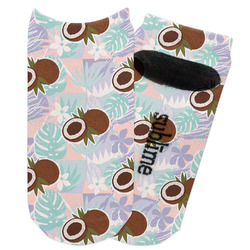 Coconut and Leaves Adult Ankle Socks (Personalized)