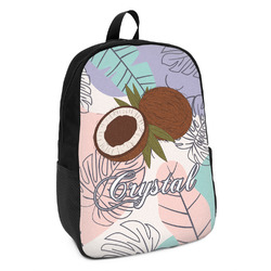 Coconut and Leaves Kids Backpack w/ Name or Text