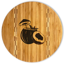 Coconut and Leaves Bamboo Cutting Board (Personalized)