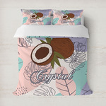 Coconut and Leaves Duvet Cover (Personalized)