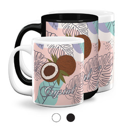 Coconut and Leaves Coffee Mugs (Personalized)