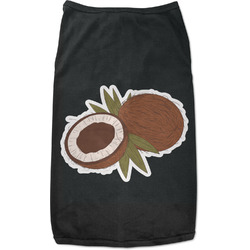 Coconut and Leaves Black Pet Shirt (Personalized)