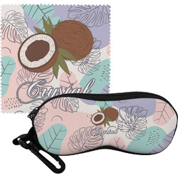 Coconut and Leaves Eyeglass Case & Cloth w/ Name or Text
