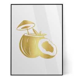 Coconut and Leaves Foil Print (Personalized)