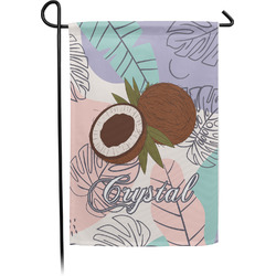 Coconut and Leaves Garden Flag - Single or Double Sided (Personalized)