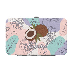 Coconut and Leaves Genuine Leather Small Framed Wallet w/ Name or Text