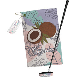Coconut and Leaves Golf Towel Gift Set w/ Name or Text