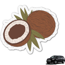 Coconut and Leaves Graphic Car Decal (Personalized)
