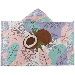 Coconut and Leaves Kids Hooded Towel (Personalized)