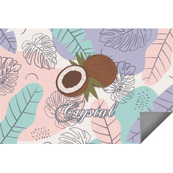 Coconut and Leaves Indoor / Outdoor Rug (Personalized)