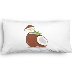 Coconut and Leaves Pillow Case - King - Graphic (Personalized)
