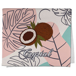 Coconut and Leaves Kitchen Towel - Full Print w/ Name or Text
