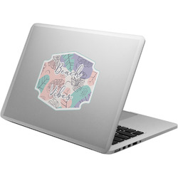 Coconut and Leaves Laptop Decal (Personalized)