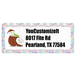 Coconut and Leaves Return Address Labels (Personalized)