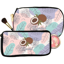 Coconut and Leaves Makeup / Cosmetic Bag (Personalized)