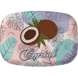 Coconut and Leaves Melamine Platter w/ Name or Text