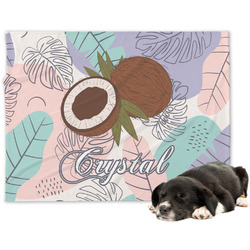 Coconut and Leaves Dog Blanket (Personalized)