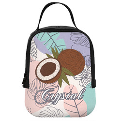 Coconut and Leaves Neoprene Lunch Tote w/ Name or Text