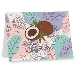 Coconut and Leaves Note cards w/ Name or Text