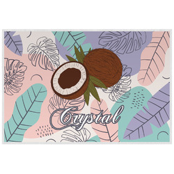 Coconut and Leaves Laminated Placemat w/ Name or Text