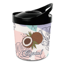 Coconut and Leaves Plastic Ice Bucket (Personalized)