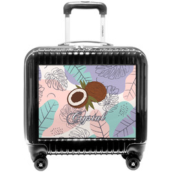 Coconut and Leaves Pilot / Flight Suitcase w/ Name or Text