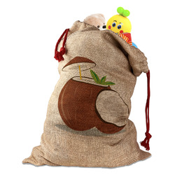 Coconut and Leaves Santa Sack (Personalized)