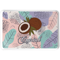 Coconut and Leaves Serving Tray w/ Name or Text