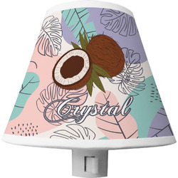 Coconut and Leaves Shade Night Light w/ Name or Text