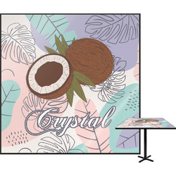 Coconut and Leaves Square Table Top (Personalized)