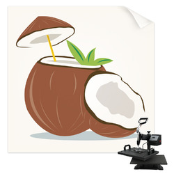 Coconut and Leaves Sublimation Transfer (Personalized)
