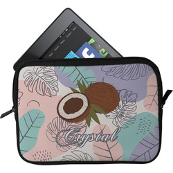 Coconut and Leaves Tablet Case / Sleeve (Personalized)