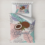 Coconut and Leaves Toddler Bedding w/ Name or Text